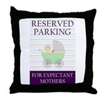 expectant mother parking Throw Pillow