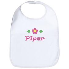 """Pink Daisy - """"Piper"""" Bib"""