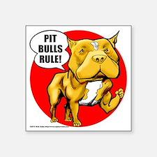 "pitbull Square Sticker 3"" x 3"""