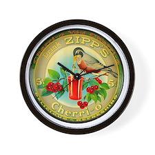 Cherry Cherrio Bird Vintage Soda Pop Ad Wall Clock