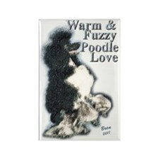 Warm Fuzzy Poodle Love Rectangle Magnet