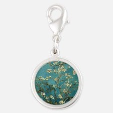 Blossoming_Almond_Tree Silver Round Charm