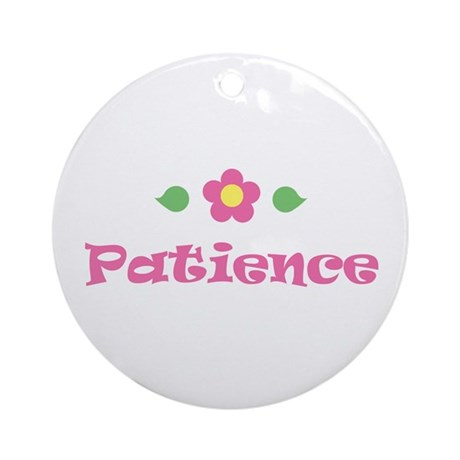 """Pink Daisy - """"Patience"""" Ornament (Round)"""
