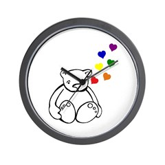 Bears Love Color Wall Clock