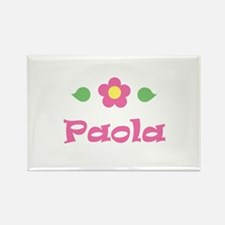 "Pink Daisy - ""Paola"" Rectangle Magnet"