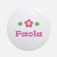 """Pink Daisy - """"Paola"""" Ornament (Round)"""