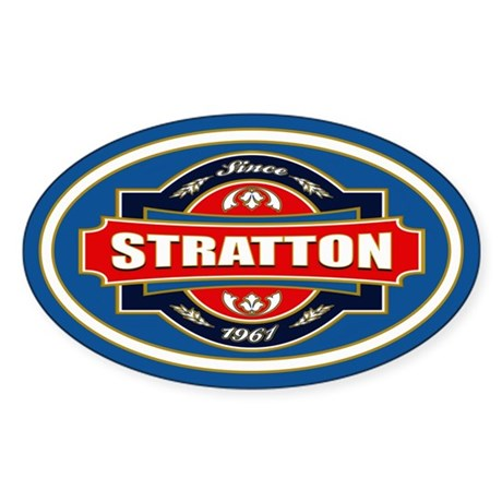 Stratton Old Label Sticker (Oval)