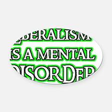 liberalismisa Oval Car Magnet