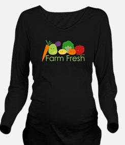 """Farm Fresh"" Long Sleeve Maternity T-Shirt"