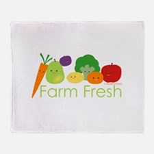 """Farm Fresh"" Throw Blanket"