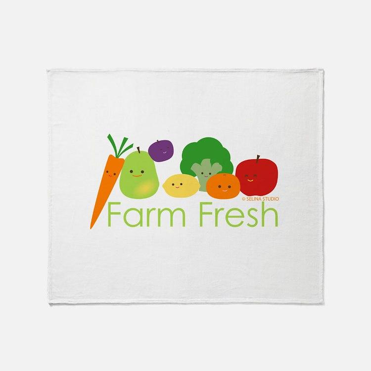 """""""Farm Fresh"""" Throw Blanket"""