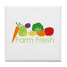 """Farm Fresh"" Tile Coaster"
