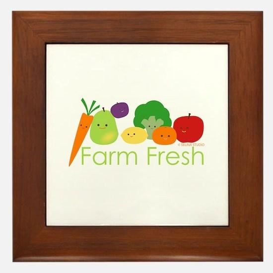 """""""Farm Fresh"""" Framed Tile"""