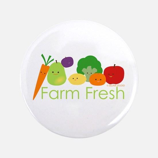 """""""Farm Fresh"""" 3.5"""" Button"""