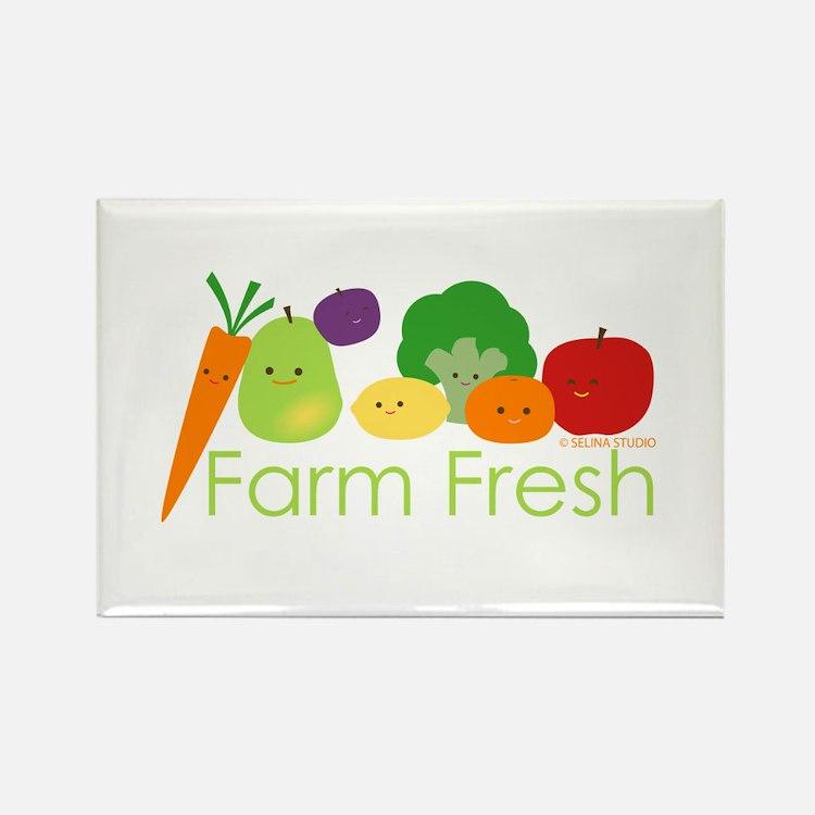 """Farm Fresh"" Rectangle Magnet"