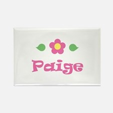"""Pink Daisy - """"Paige"""" Rectangle Magnet"""