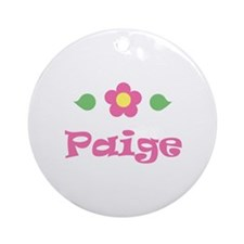 """Pink Daisy - """"Paige"""" Ornament (Round)"""