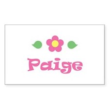 "Pink Daisy - ""Paige"" Rectangle Decal"