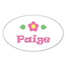 """Pink Daisy - """"Paige"""" Oval Decal"""