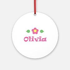 "Pink Daisy - ""Olivia"" Ornament (Round)"