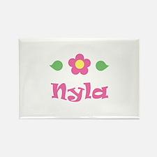 "Pink Daisy - ""Nyla"" Rectangle Magnet"