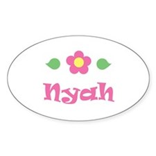 """Pink Daisy - """"Nyah"""" Oval Decal"""
