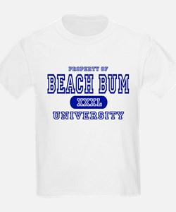 Beach Bum University Kids T-Shirt