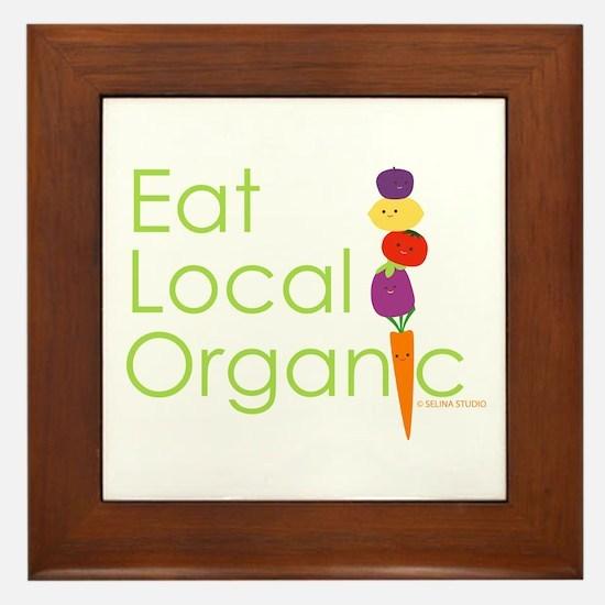"""""""Eat Local Organic"""" Framed Tile"""