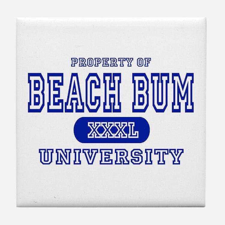 Beach Bum University Tile Coaster