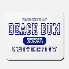 Beach Bum University Mousepad