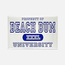 Beach Bum University Rectangle Magnet