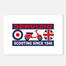 Vintage Scooter - Servizio Postcards (Package of 8