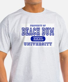 Beach Bum University Ash Grey T-Shirt