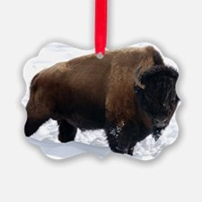 1 Bison Snow Ornament