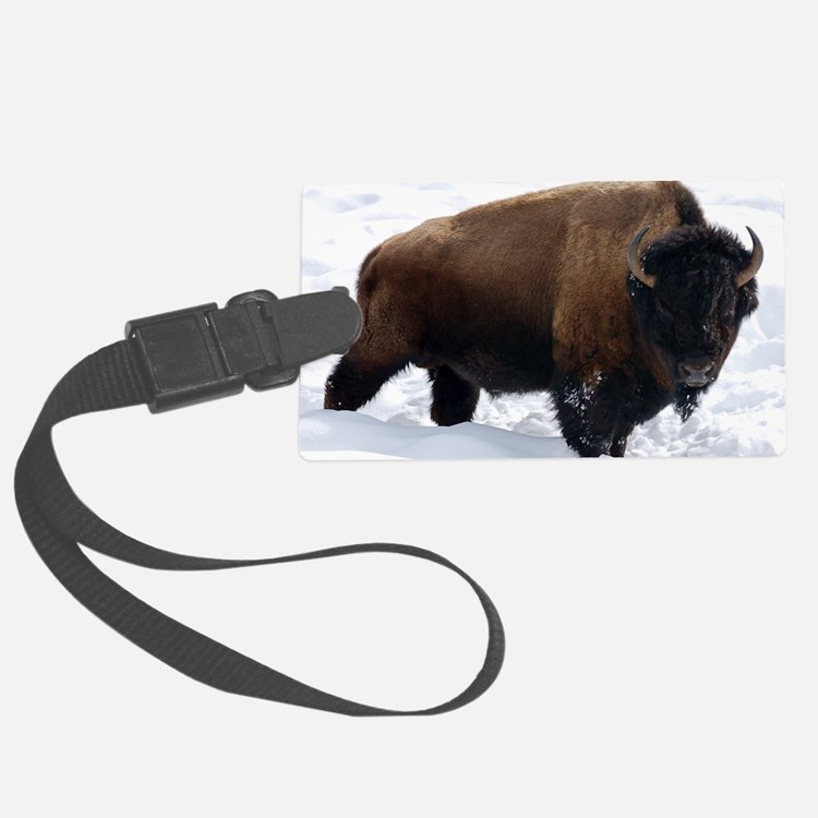 1 Bison Snow Luggage Tag