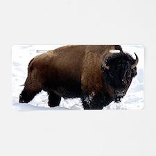 1 Bison Snow Aluminum License Plate