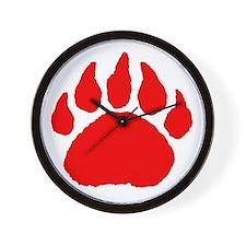 Woof Bear Paw Claw Wall Clock