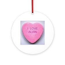 HEART ALVIN Round Ornament