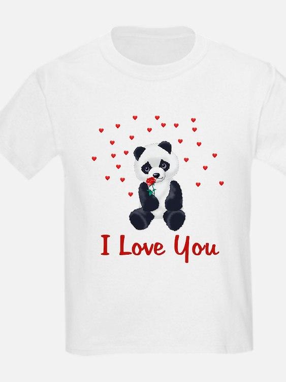 Panda Bear Valentine T-Shirt