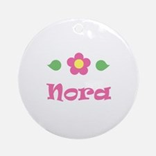 "Pink Daisy - ""Nora"" Ornament (Round)"