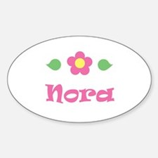 """Pink Daisy - """"Nora"""" Oval Decal"""