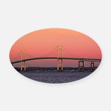 Newport Bridge, Rhode Island Oval Car Magnet