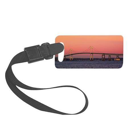 Newport Bridge, Rhode Island Small Luggage Tag