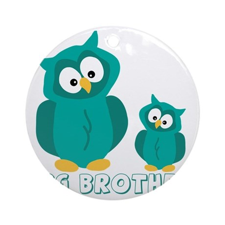bog-brother-owls Round Ornament