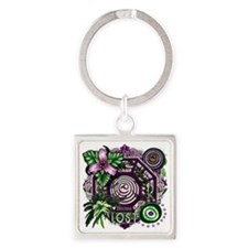 Dharma Orchid Jungle Medley Square Keychain