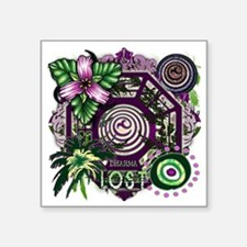 "Dharma Orchid Jungle Medley Square Sticker 3"" x 3"""
