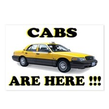 cabs are here-2 Postcards (Package of 8)