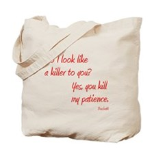 CASTLE kill my patience shirt Tote Bag