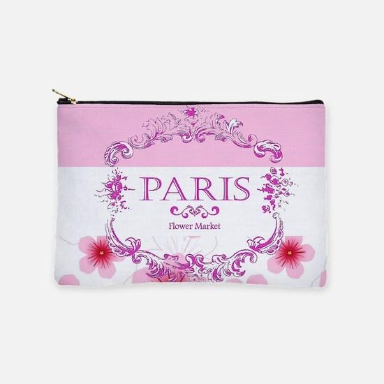 Pink Paris floral Makeup Pouch