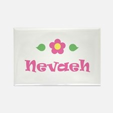 """Pink Daisy - """"Nevaeh"""" Rectangle Magnet"""